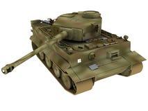 Wiedergabe 3d von deutschen Tiger Tank Lizenzfreie Stockfotos