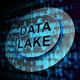 Wiedergabe data See-Digital Datacenter Wolken-3d lizenzfreie abbildung