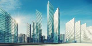 Wiedergabe der Stadtszene 3d Lizenzfreie Stockfotos