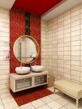 Wiedergabe des Badezimmers 3d Stockbild