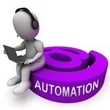 Wiedergabe des E-Mail-Automatisierungs-Digital-Marketingsystem-3d lizenzfreie abbildung