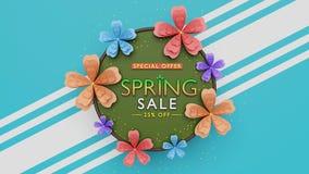 Wiedergabe des Frühlingsverkaufshintergrundes 3d lizenzfreie stockfotos