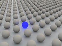 Wiedergabe des Konzeptes 3D, die Individualismus bildlich darstellt stock abbildung