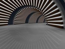 Wiedergabe des Korridors 3D Stockfoto