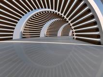 Wiedergabe des Korridors 3D Stockbild