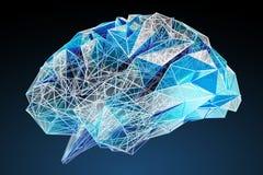 Wiedergabe des menschlichen Gehirns 3D Digital-Röntgenstrahls Lizenzfreies Stockbild