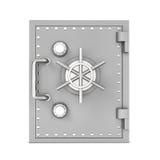 Wiedergabe des sicheren Stahlkastens, lokalisiert auf weißem Hintergrund lizenzfreie stockfotografie
