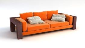 Wiedergabe des Sofas 3D Lizenzfreie Stockfotos