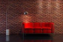 Wiedergabe des Sofas 3D Stockbilder