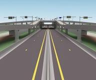 Wiedergabe des Straßenbrückenschnitts 3d Lizenzfreie Stockbilder