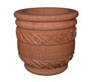 Wiedergabe des Terrakotta-keramische Blumen-Vase 3d lizenzfreie abbildung