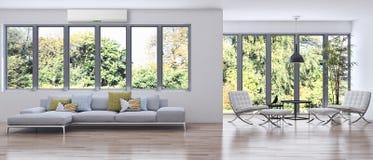 Wiedergabe des Wohnzimmers 3D Lizenzfreies Stockfoto