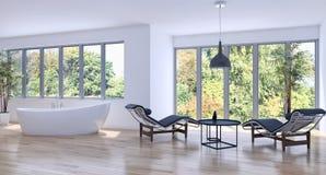 Wiedergabe des Wohnzimmers 3D Lizenzfreie Stockbilder