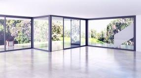 Wiedergabe des Wohnzimmers 3D Lizenzfreie Stockfotos