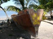 Wiedergabe eines alten Arawak-Kanus Lizenzfreie Stockbilder
