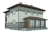 Wiedergabe eines Landhauses Lizenzfreie Stockbilder