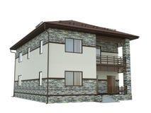 Wiedergabe eines Landhauses Stockbild