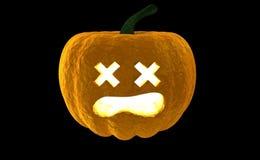 Wiedergabe Laterne 3d Halloween-Kürbis-Jacks O lokalisiert auf schwarzem Hintergrund mit Platz für Text Stockfoto