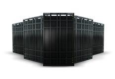 Wiedergabe von 5 Servergestellen Lizenzfreie Stockbilder