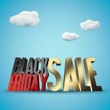Wiedergabehintergrund Black Friday-Verkaufs 3d Stockbild