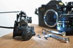 Wiedergutmachung der alten Kamera Stockfotografie