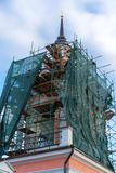 Wiederherstellung der orthodoxen Kirche stockfotografie