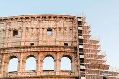 Wiederherstellung des Colosseum in Rom Lizenzfreies Stockbild