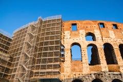 Wiederherstellung des Colosseum in Rom Lizenzfreies Stockfoto