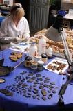 Wiederherstellung des römischen Wandanstriches stockfotografie