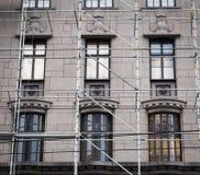 Wiederherstellung eines Gebäudes stockbilder