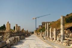 Wiederherstellung in Ephesus stockfotografie