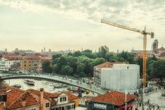 Wiederherstellung von Gebäuden in Venedig Lizenzfreies Stockfoto