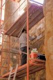 Wiederherstellung von Khnum Tempel in Esna Stockfotos