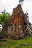 Wiederherstellungsarbeit des Tempels, Siem Reap Stockfotografie