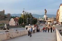 Wiederherstellungsprojekt des Skopje-Stadtzentrums nach 2014 Lizenzfreie Stockbilder