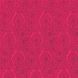 Wiederholbarer Paisley-Muster-heißes Rosa-Hintergrund Stockfotos