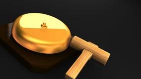 Wiederholen der boxenden Glocke auf schwarzem Textraum lizenzfreie abbildung