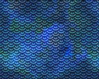 Wiederholen des blaues Grün-Meerjungfrau-Fischschuppe-Musters Stockbild
