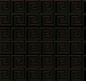 Wiederholen des Labyrinths wie goldener Rand des Designs Stockbild