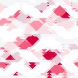 Wiederholen des Musters mit geometrischen Formen in der weißen, roten und grauen Farbe Lizenzfreie Stockfotos