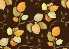 Wiederholen des Musters mit wirbelndem Herbstlaub stock abbildung
