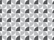 Wiederholen des Viertelkreismusters, geometrisches Muster Stockbilder