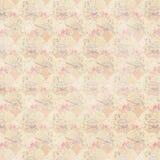 Wiederholen rosa antike Kranzrosen und -fans der Aprikose Hintergrund Lizenzfreies Stockbild