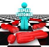 Wiederholen Sie Kunden-Loyal Satisfied Faithful Client Return-Geschäft Lizenzfreie Stockfotografie