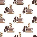 Wiederholen Sie Muster eines Tasse Kaffees Lizenzfreie Stockfotos