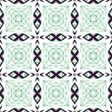 Wiederholen von schwarzen und grünen Quadraten Lizenzfreie Stockbilder