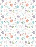 Wiederholendes nahtloses Blumenmuster - hübscher Blumen-Hintergrund Stockfotografie
