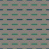Wiederholter abstrakter Hintergrund der rechteckigen Blöcke Ziegelsteinmotiv Nahtloses Muster der ethnischen Art mit geometrische Stockbilder