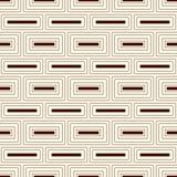 Wiederholter abstrakter Hintergrund der rechteckigen Blöcke Ziegelsteinmotiv Nahtloses Muster des Entwurfs mit einfacher geometri Stockbild