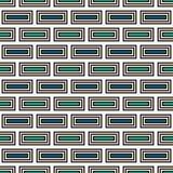 Wiederholter abstrakter Hintergrund der rechteckigen Blöcke Ziegelsteinmotiv Nahtloses Muster der ethnischen Art mit geometrische Stockfotografie